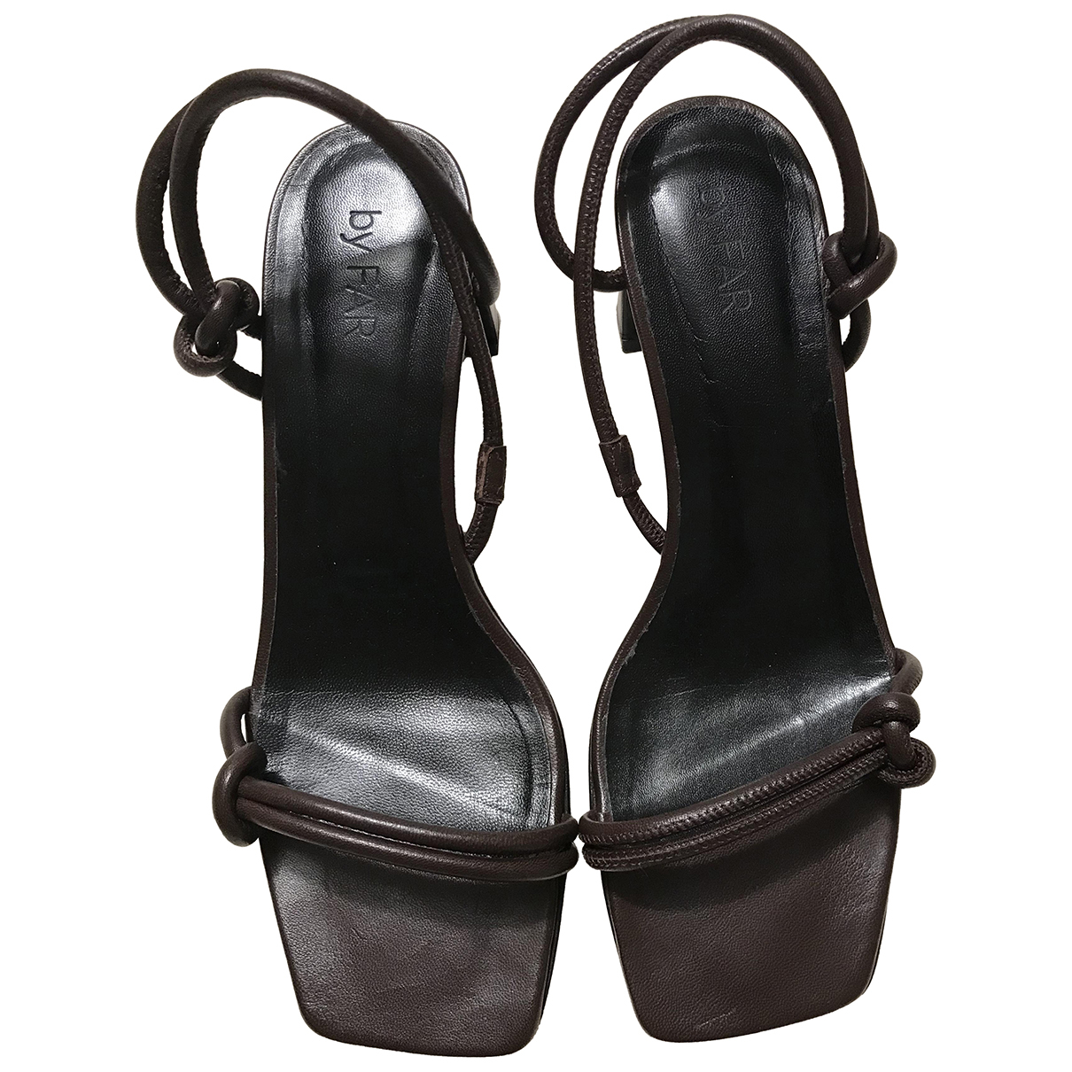 By Far \N Brown Leather Sandals for Women 40 EU