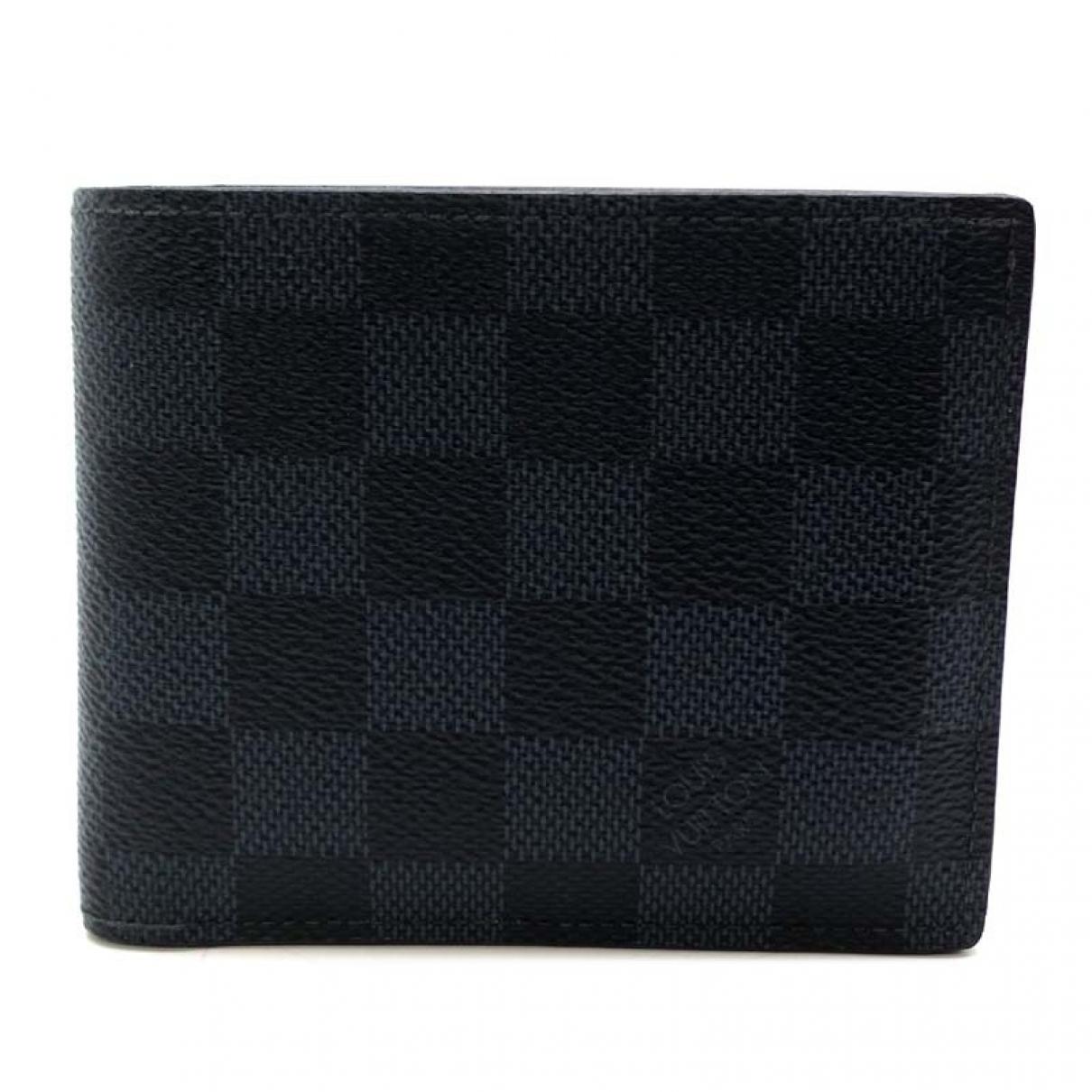 Louis Vuitton - Petite maroquinerie   pour homme en toile - gris