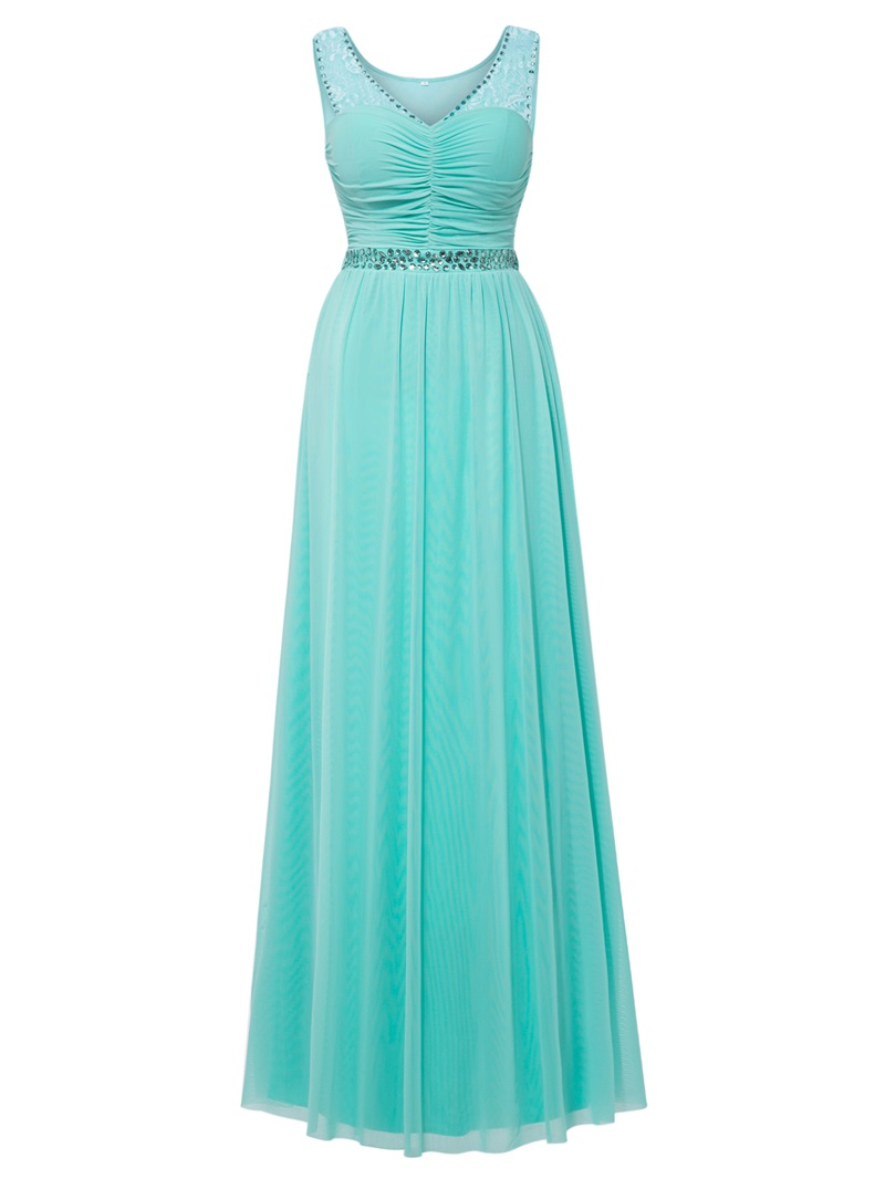 Ericdress Scoop Neck Beaded Lace A Line Prom Dress
