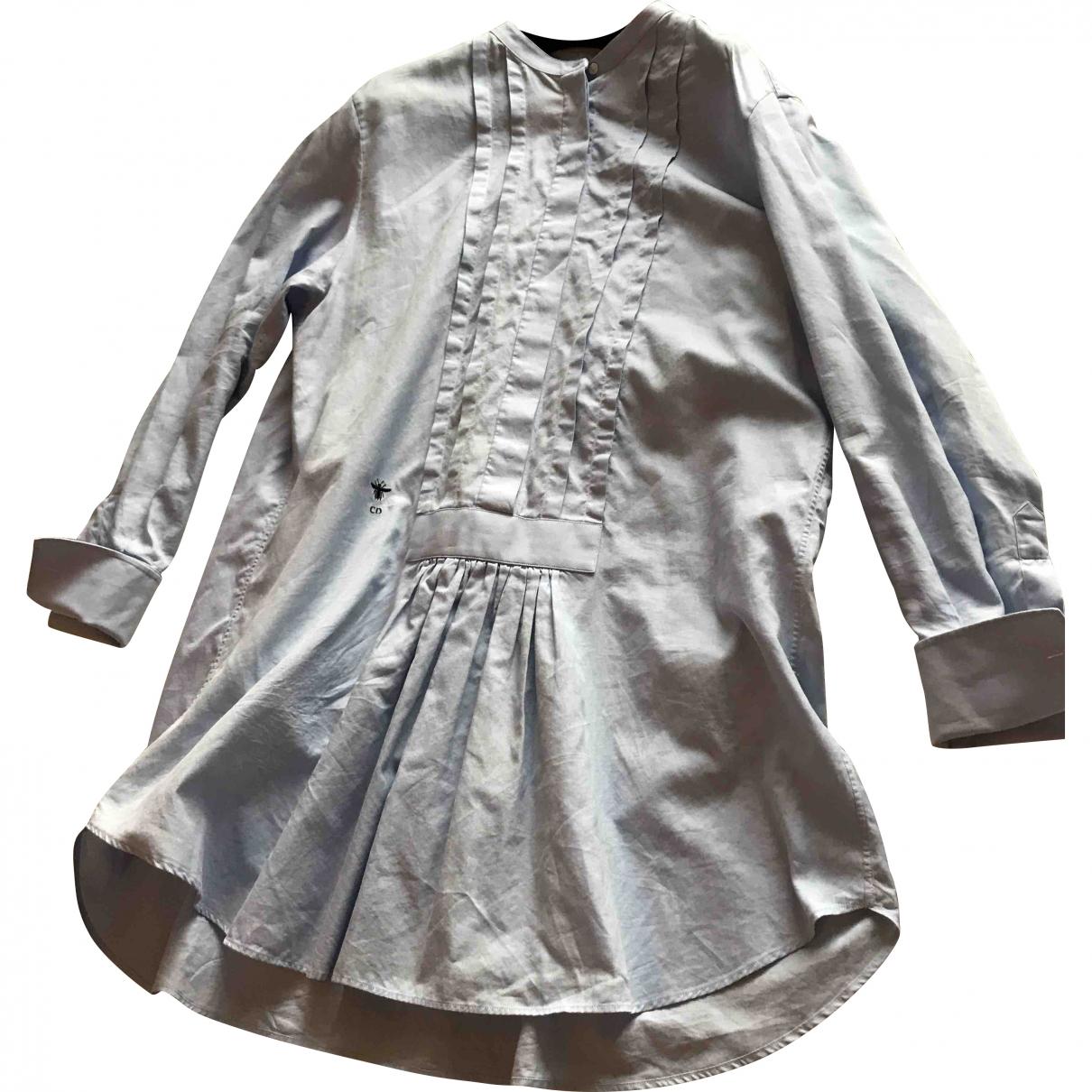 Dior - Top   pour femme en coton - bleu