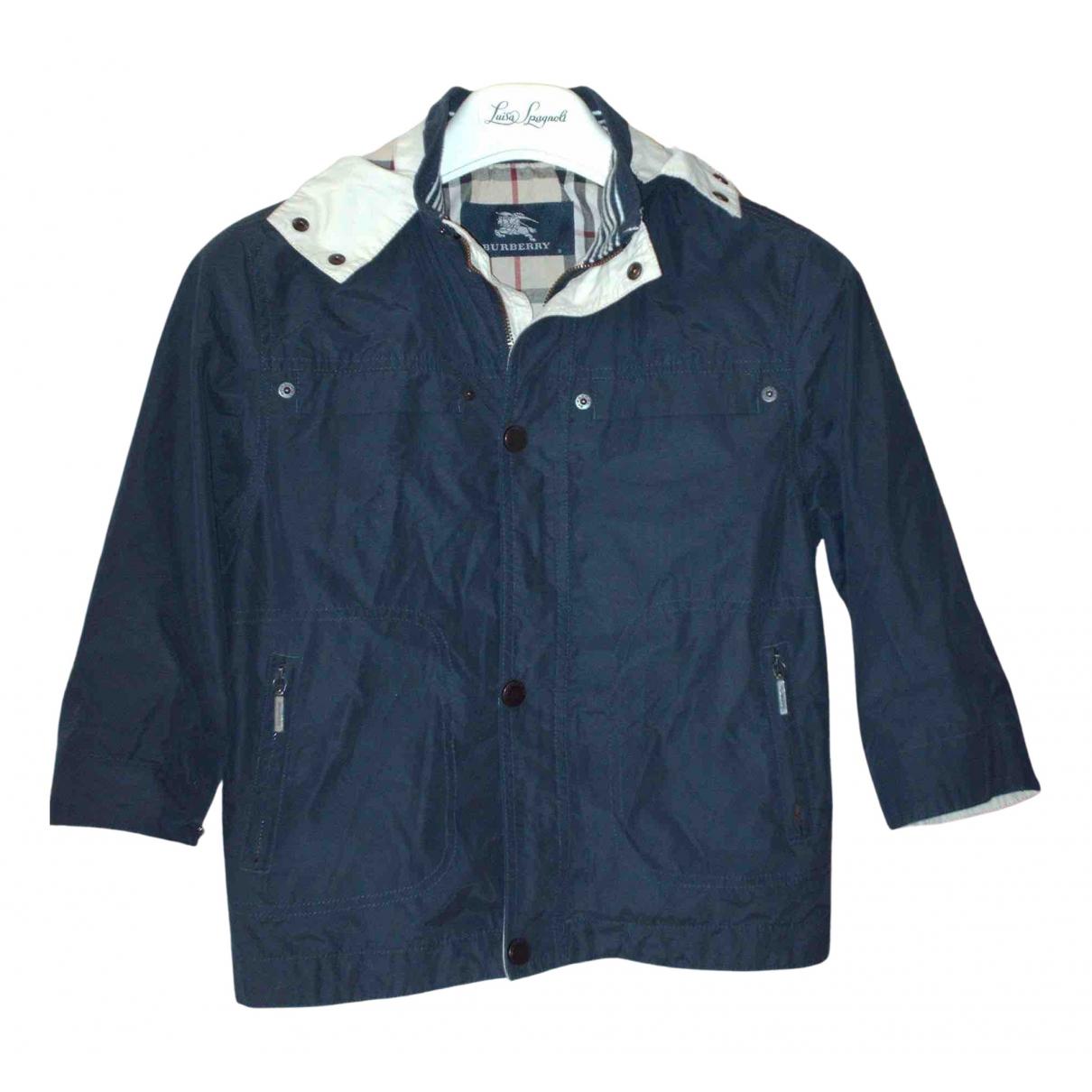 Burberry - Blousons.Manteaux   pour enfant en coton - bleu