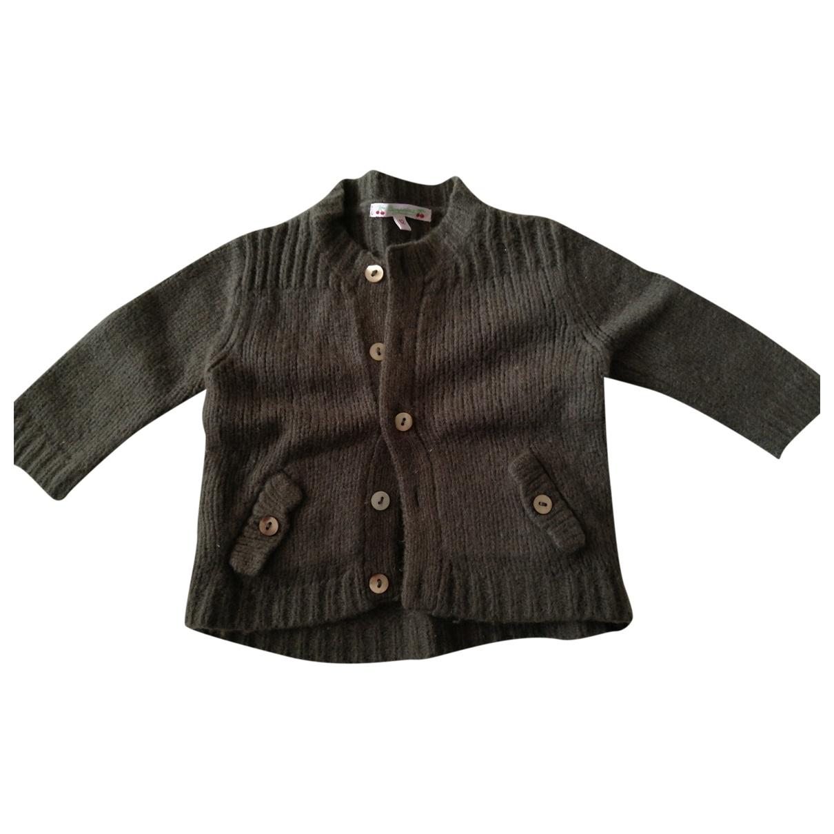 Bonpoint - Pull   pour enfant en laine - vert