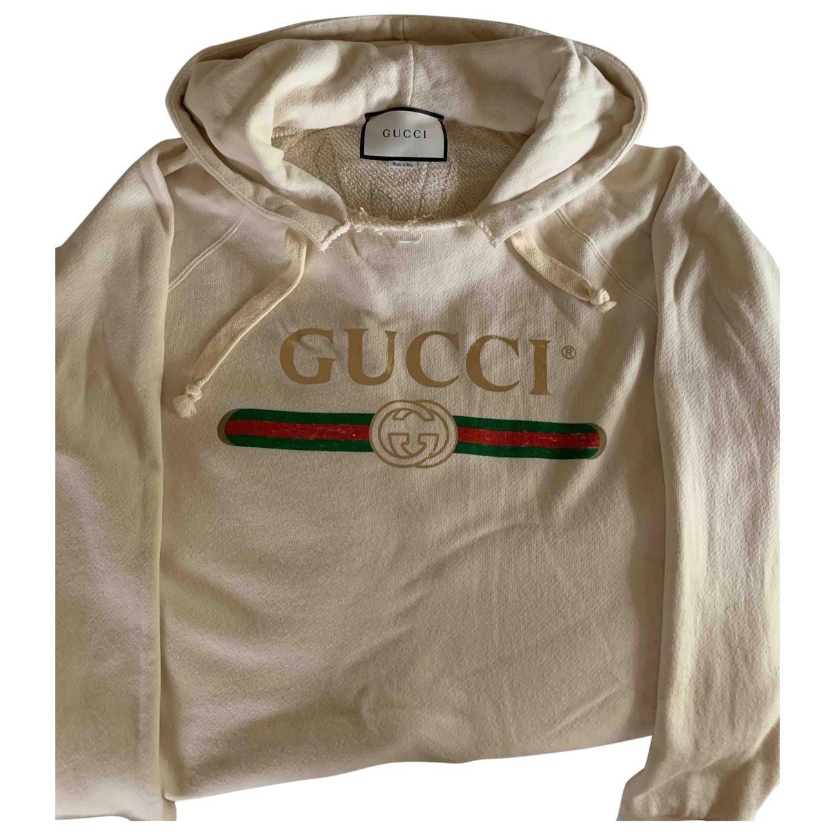Gucci \N Pullover in  Beige Baumwolle