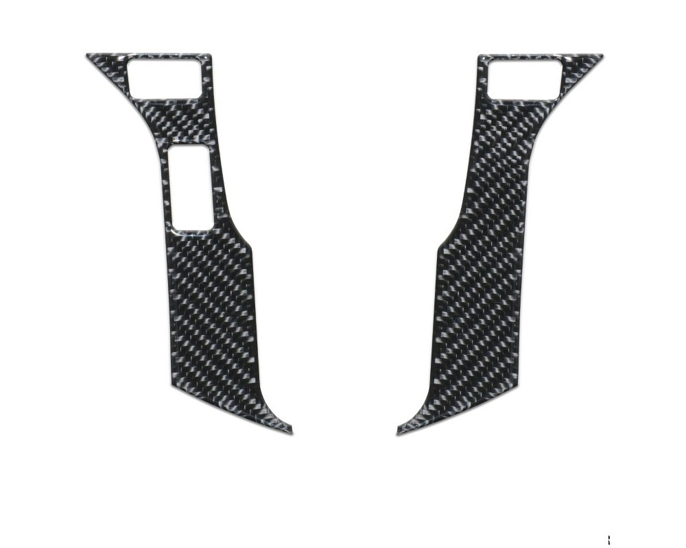 Tufskinz TAC038-RUN-DCF-G Steering Wheel Trim With 3 Buttons Fits 2014-2020 Toyota 4Runner 2 Piece Kit In Domed Carbon Fiber