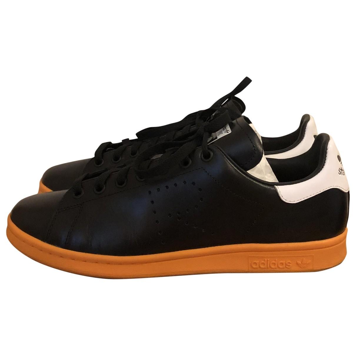Raf Simons - Baskets   pour homme en cuir - noir