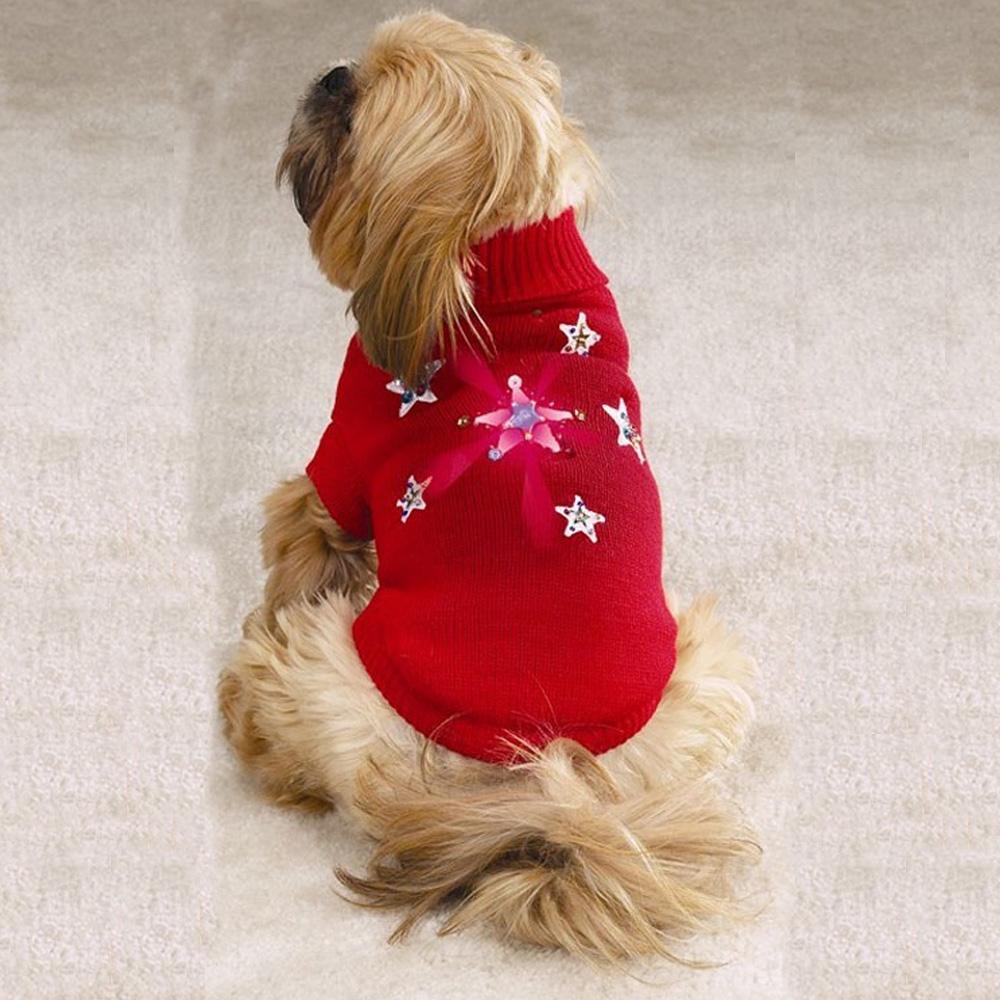 Zack & Zoey Twinkling Star Sweater Red