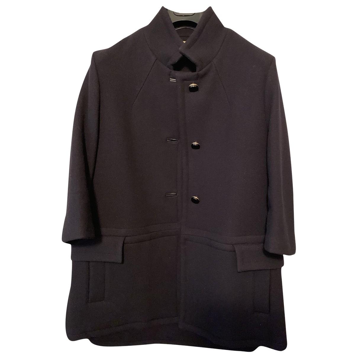 Marni - Manteau   pour femme en laine - marine