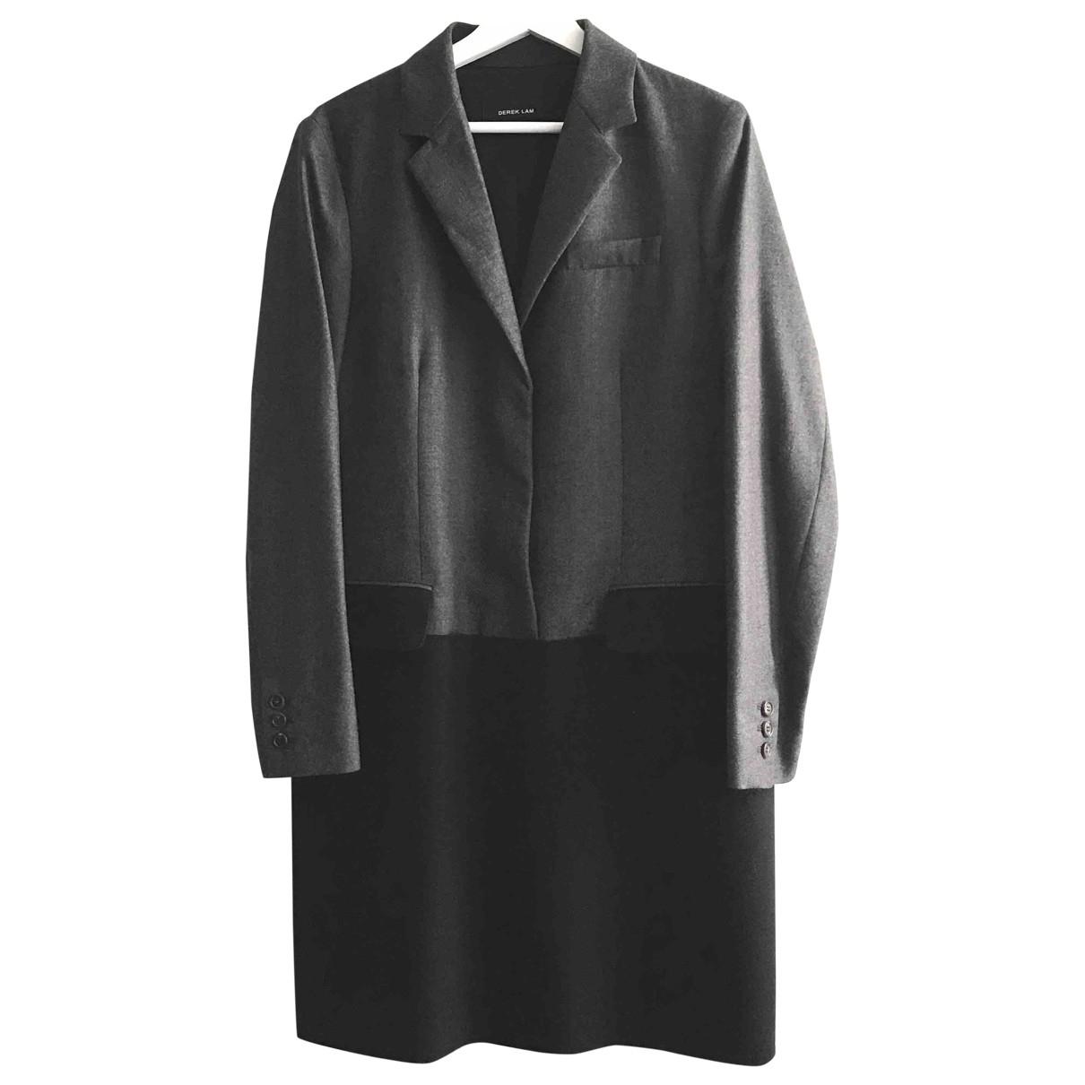 Derek Lam \N Kleid in  Grau Wolle