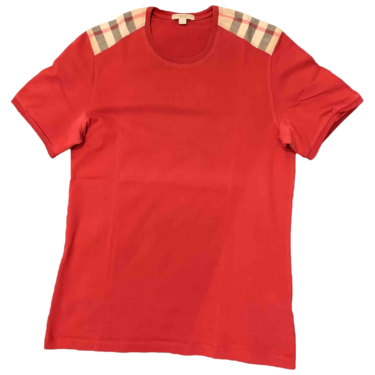 Burberry \N Red Cotton T-shirts for Men S International