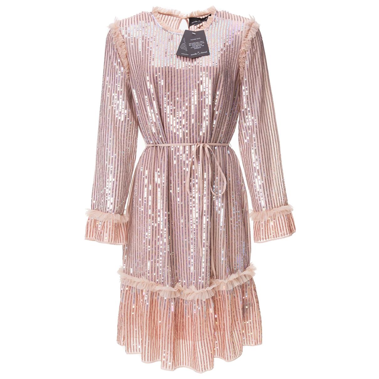 Needle & Thread \N Kleid in  Rosa Mit Pailletten
