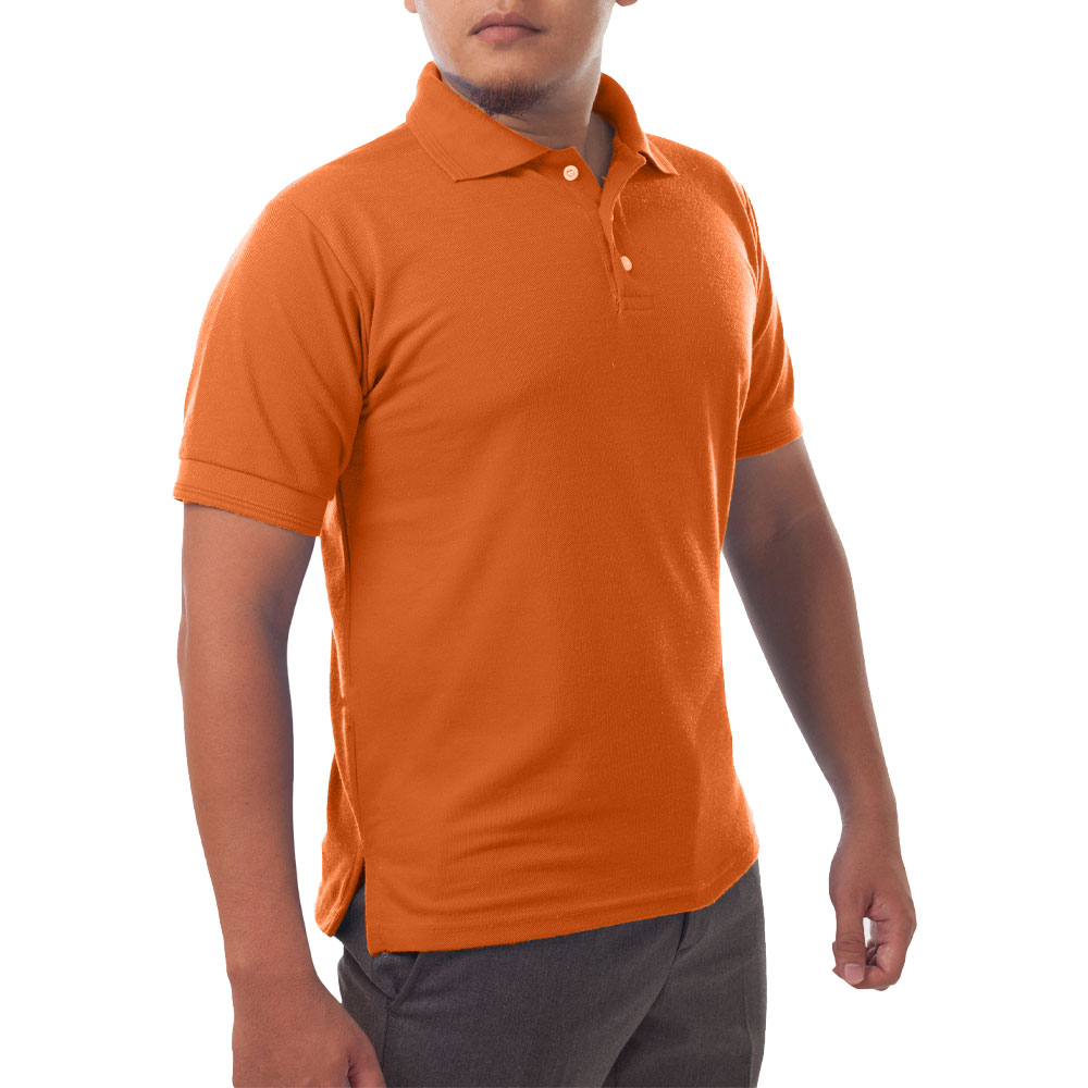 Page & Tuttle Solid Jersey Short Sleeve Polo Golf Shirt Orange- Mens- Size XL