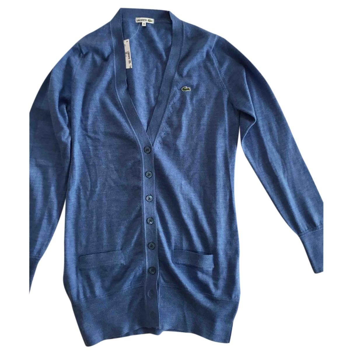 Lacoste - Pull   pour femme en laine - bleu