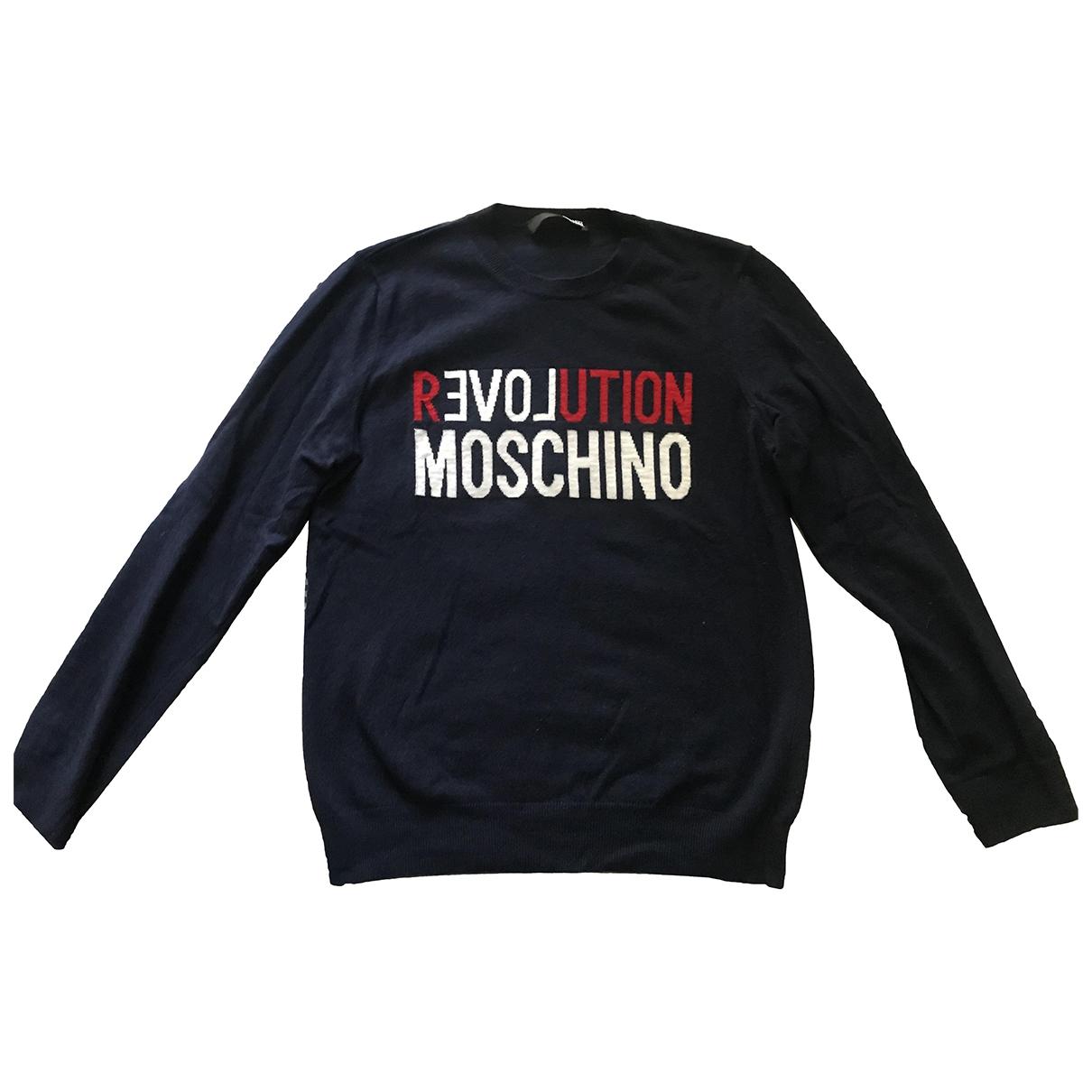 Moschino Love \N Pullover.Westen.Sweatshirts  in  Blau Wolle