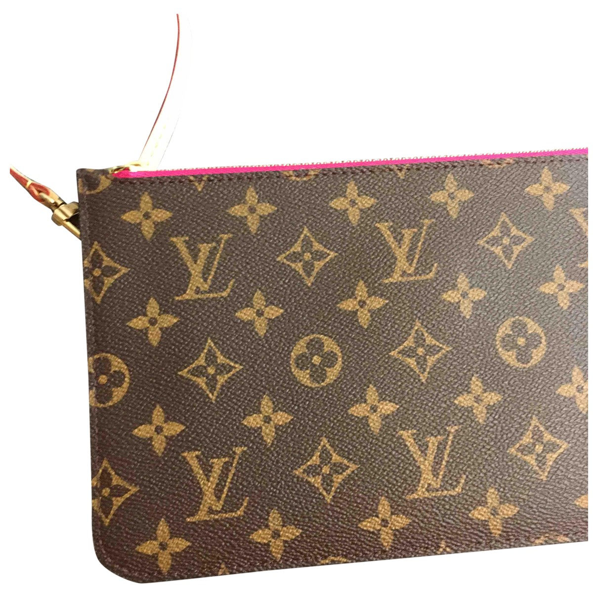 Louis Vuitton - Pochette Neverfull pour femme en toile - rose
