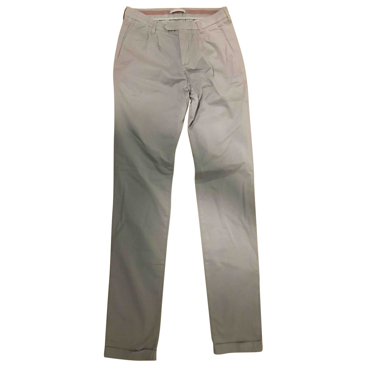 Eleventy \N Grey Cotton Trousers for Men 30 UK - US