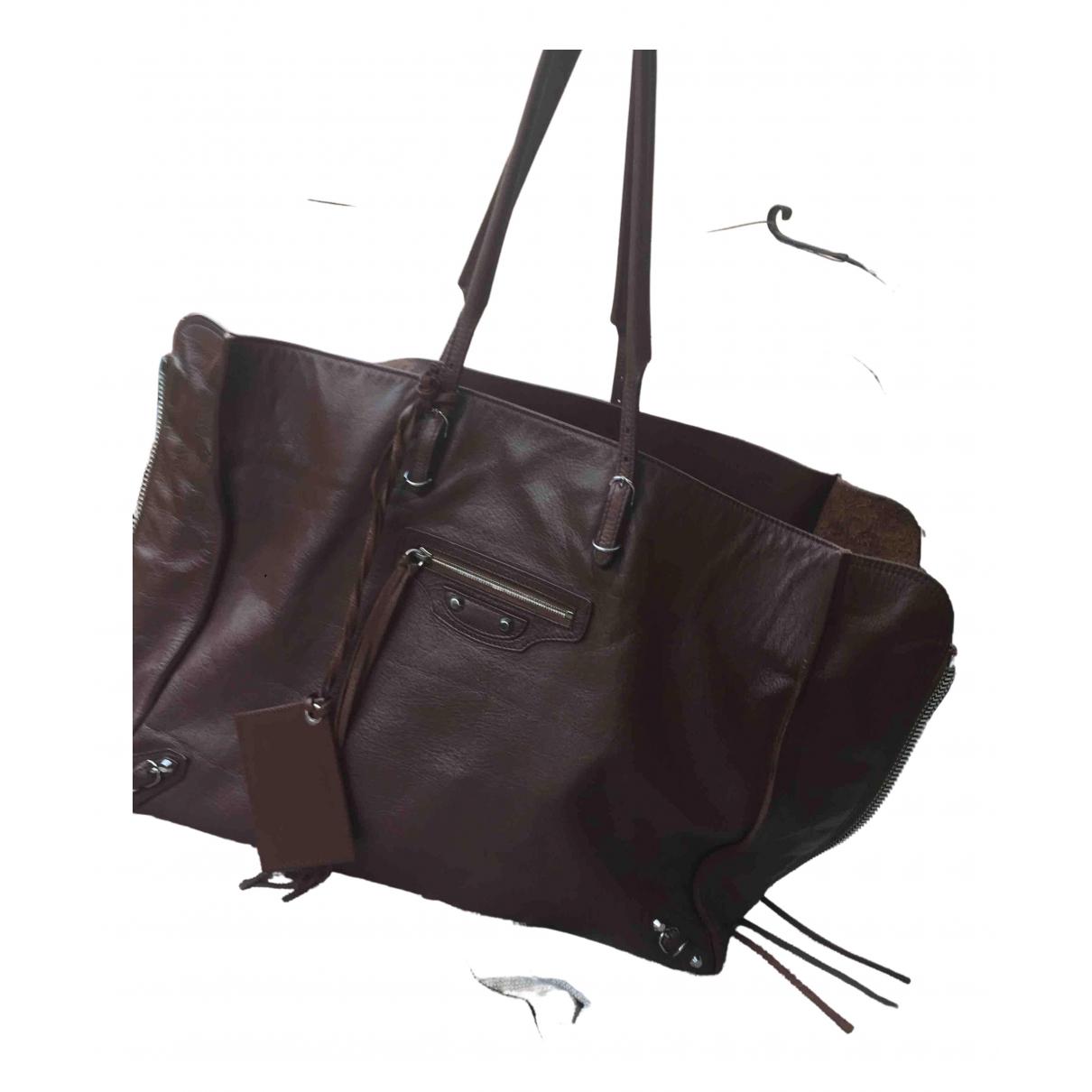 Balenciaga Papier Brown Leather handbag for Women \N