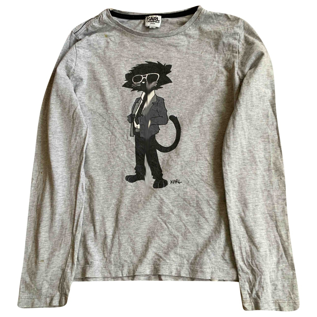 Karl Lagerfeld \N Grey Cotton  top for Kids 12 years - XS UK