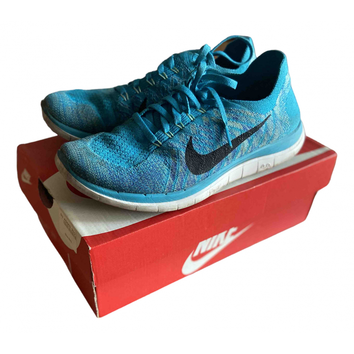 Nike Free Run Blue Cloth Trainers for Women 39 EU