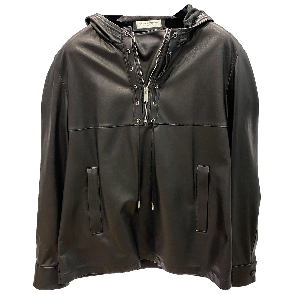 Saint Laurent - Veste   pour femme en cuir - noir