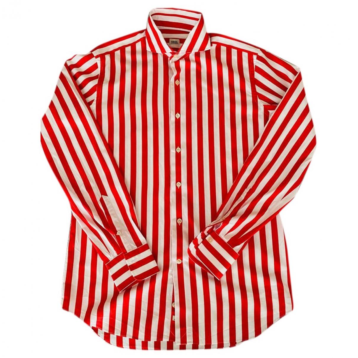 - Chemises   pour homme en coton - rouge