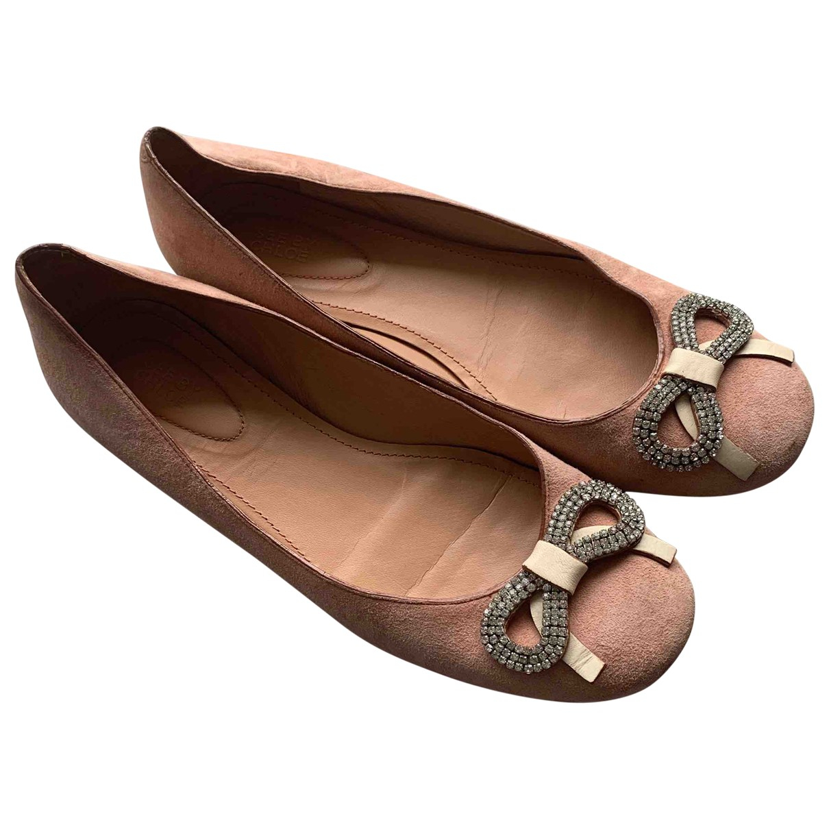 See By Chloé \N Pink Suede Ballet flats for Women 39.5 EU