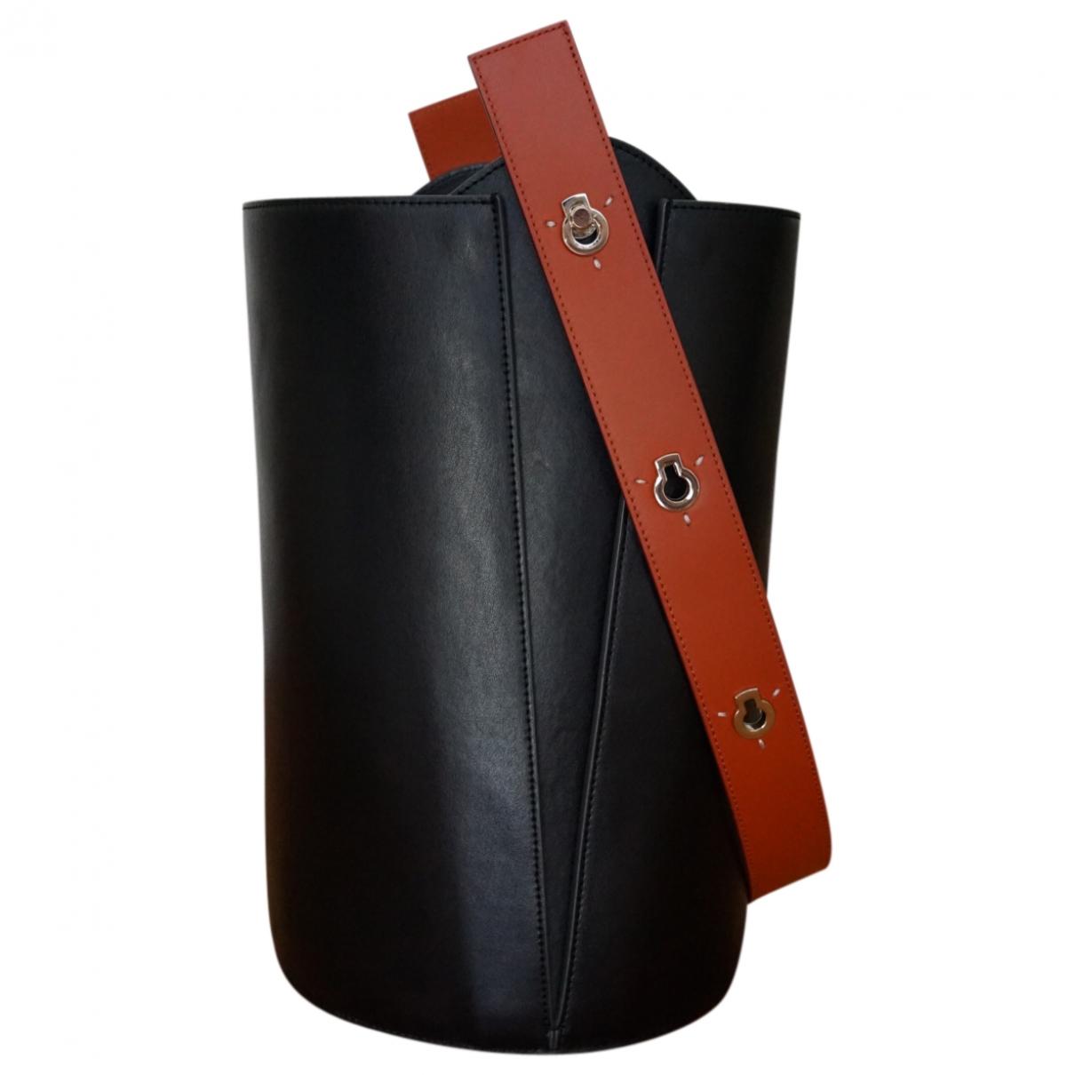 Danse Lente \N Black Leather handbag for Women \N