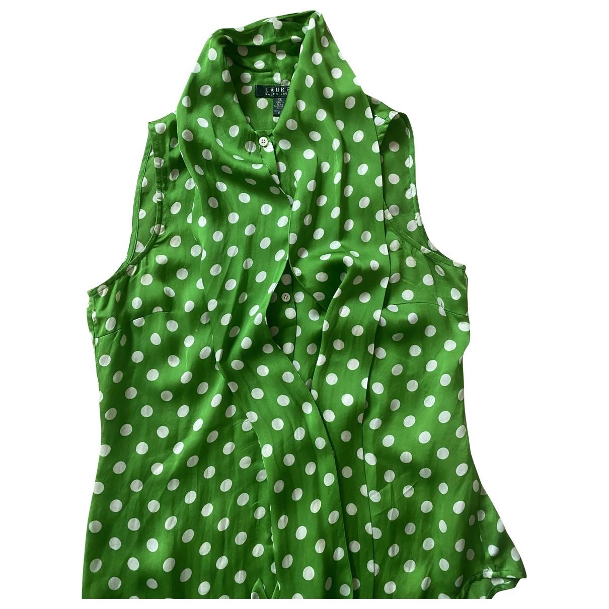 Lauren Ralph Lauren \N Green Silk  top for Women XS International