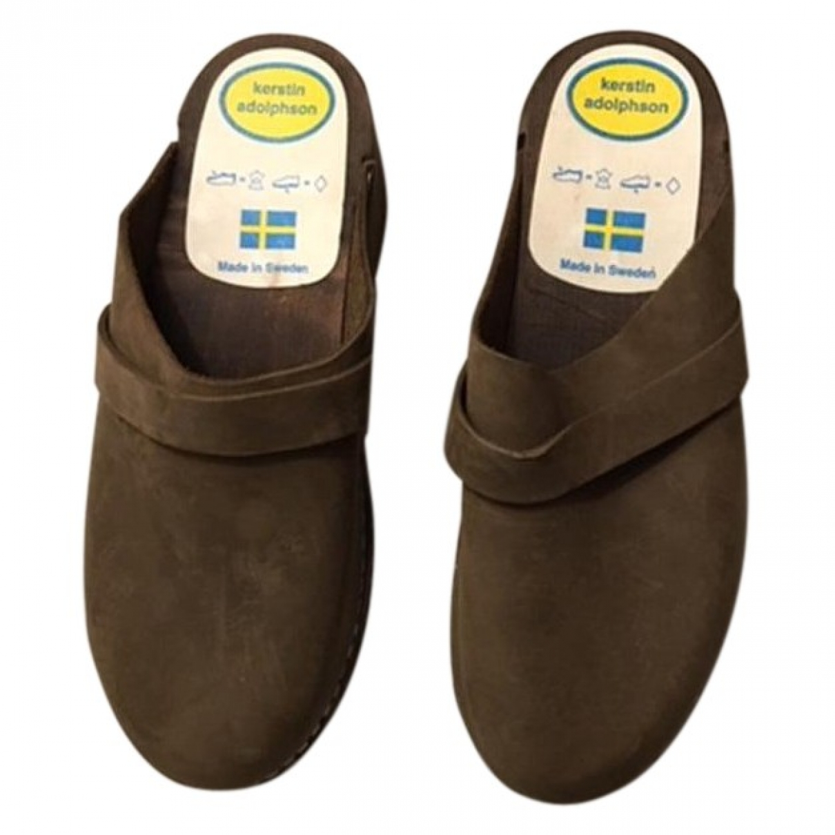 Kerstin Adolphson \N Brown Leather Mules & Clogs for Women 40 EU