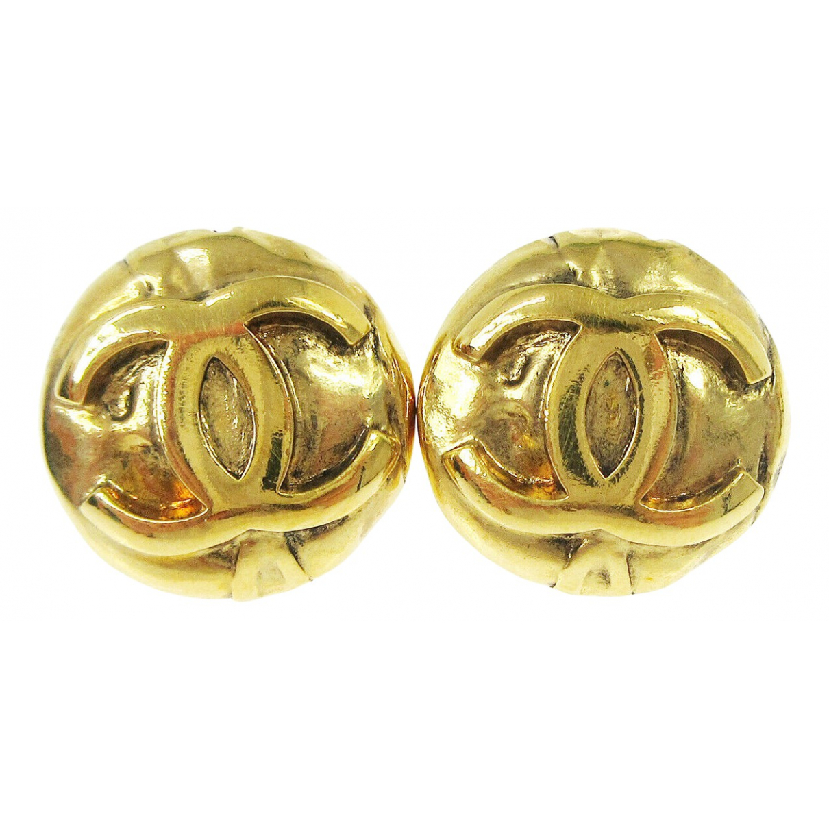 Chanel CC Gold Metal Earrings for Women \N
