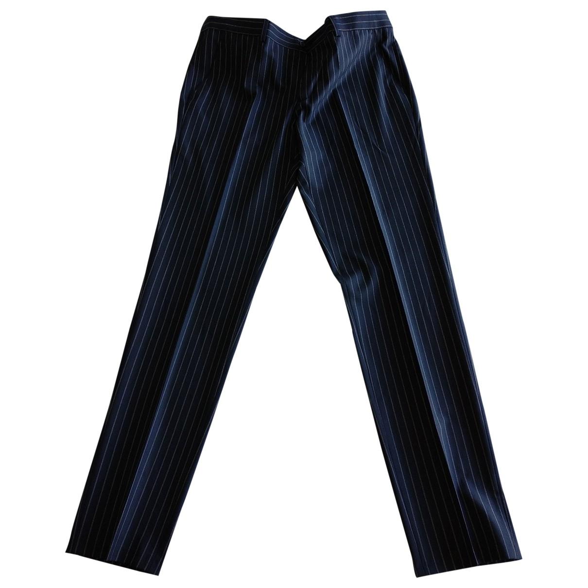 Zara \N Navy Trousers for Men 42 FR