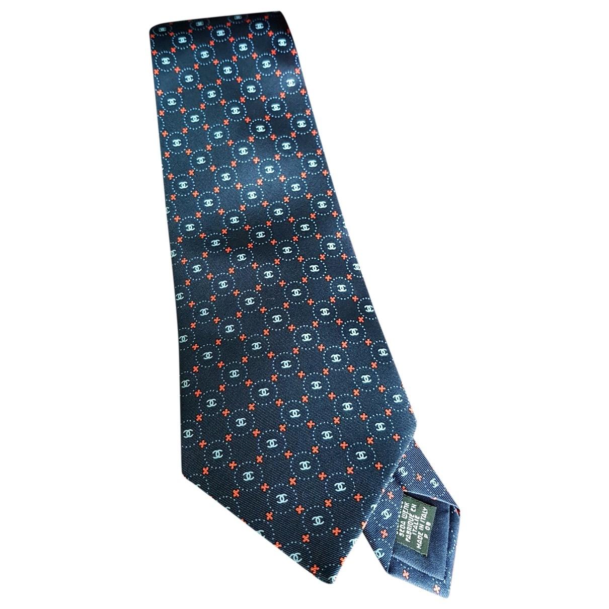 Chanel \N Krawatten in  Marine Seide