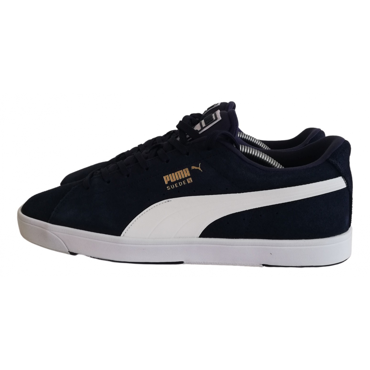 Puma \N Navy Suede Trainers for Men 44 EU