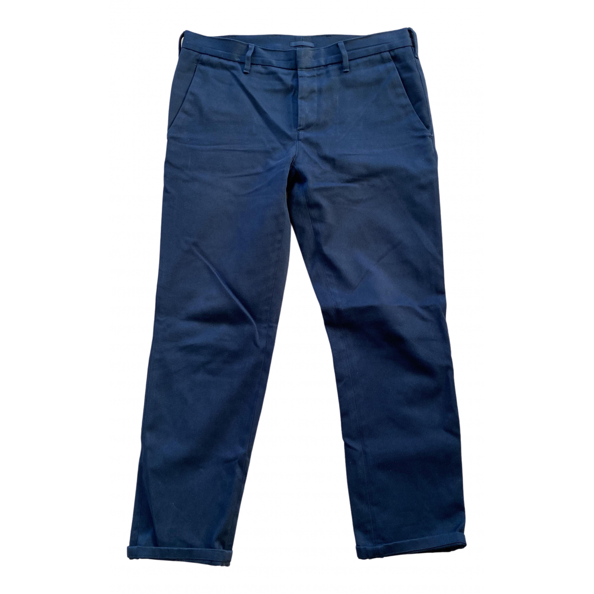 Prada \N Blue Cotton Trousers for Men 32 UK - US