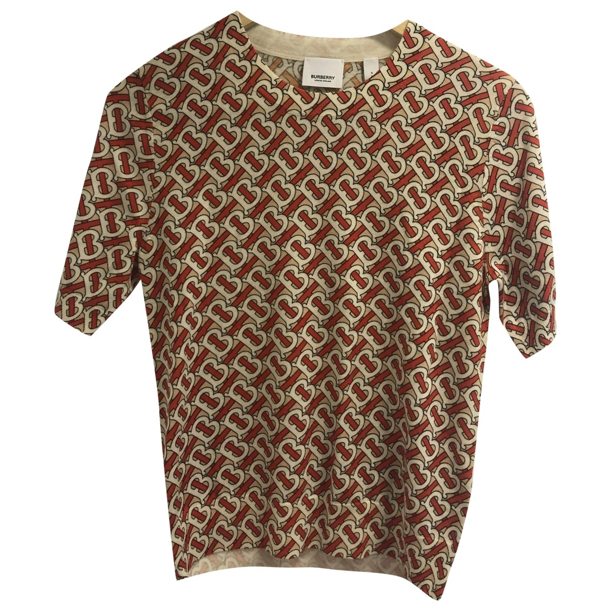 Burberry \N Top in  Rot Wolle