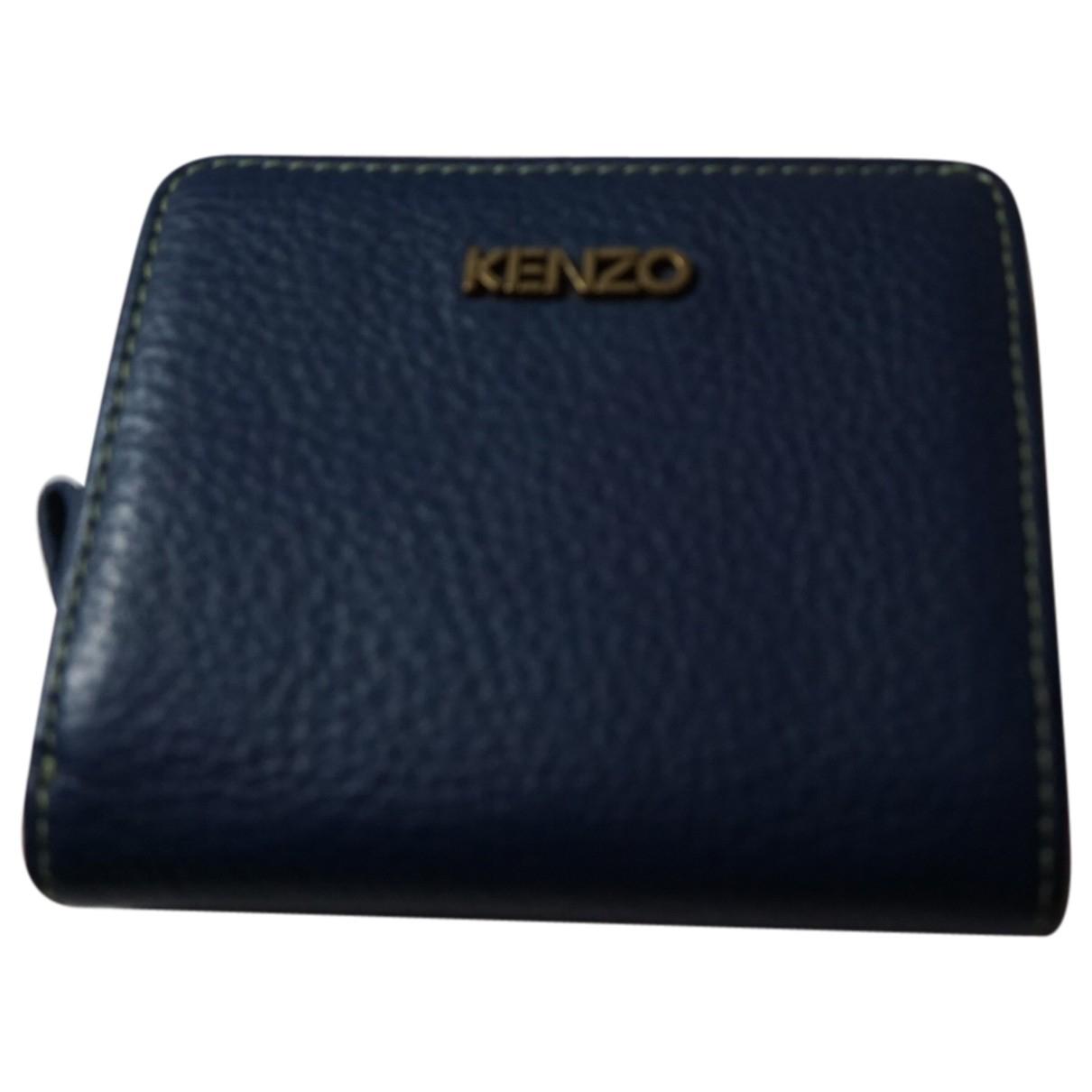 Kenzo \N Kleinlederwaren in  Blau Leder