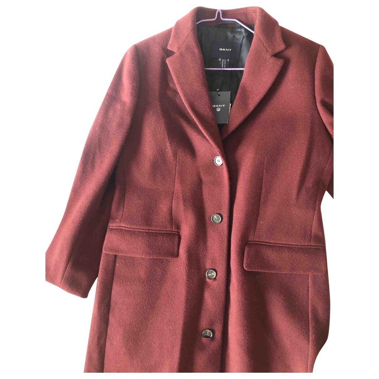 Gant Rugger \N Burgundy Wool coat for Women M International