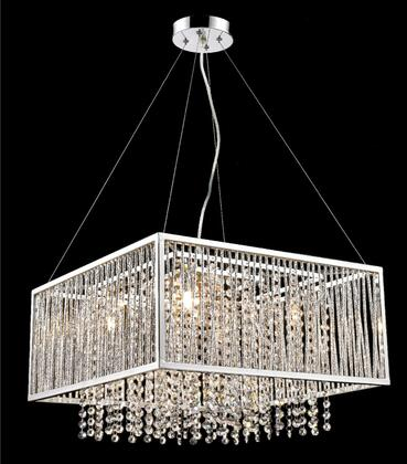 YS579-5P 5-Light Chandelier with Stainless Steel and Crystal Materials and 40 Watts in Chrome