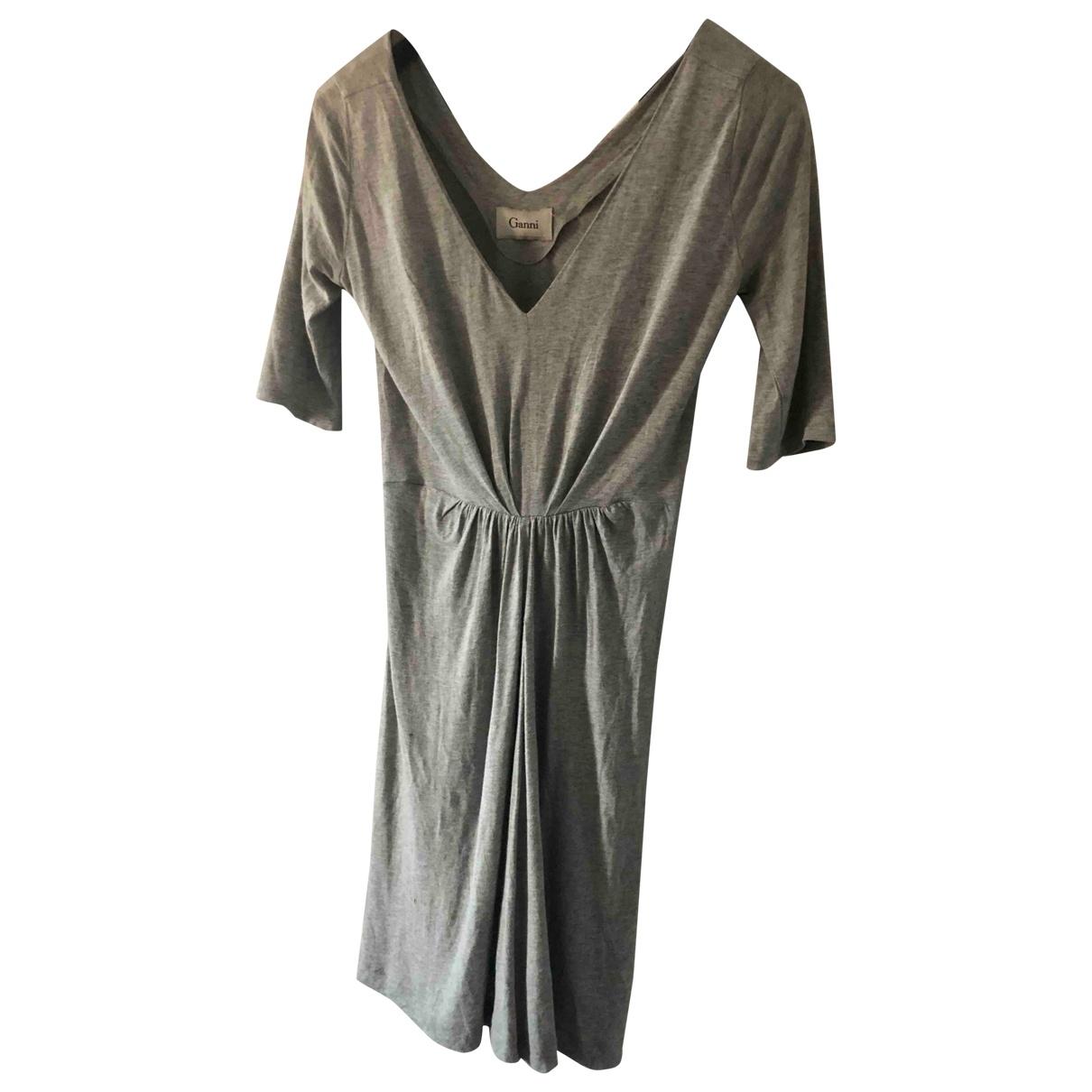 Ganni - Robe   pour femme - gris