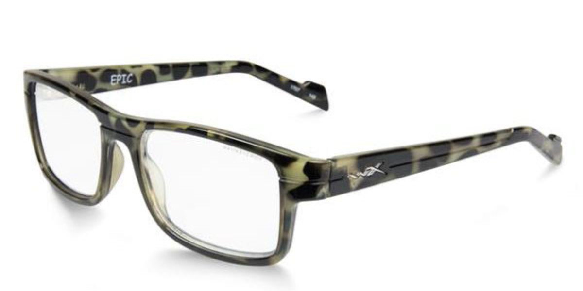 Wiley X Epic WSEPC06 Men's Glasses Green Size 55 - Free Lenses - HSA/FSA Insurance - Blue Light Block Available