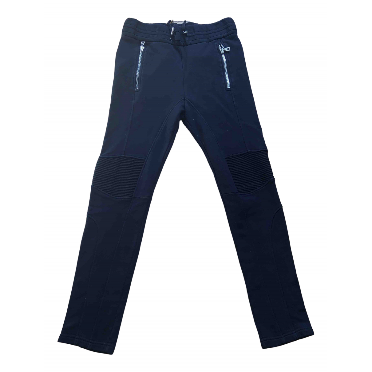 Balmain \N Black Cotton Trousers for Men M International