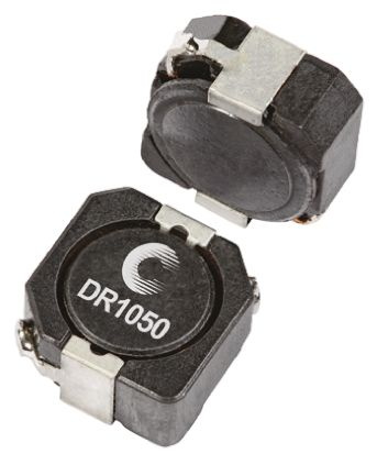 Eaton Bussmann Series , DR1050, 1050 Shielded Wire-wound SMD Inductor with a Ferrite Core, 10 μH ±30% Wire-Wound 4.58A (5)
