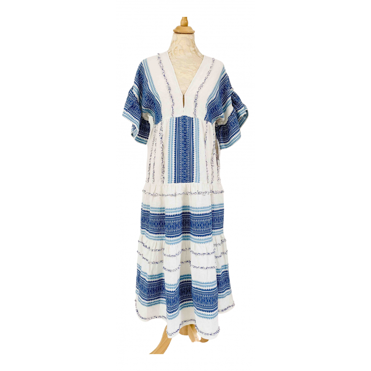 Non Signé / Unsigned \N White Cotton dress for Women XS International