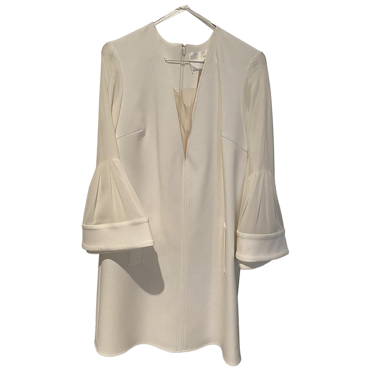 Elisabetta Franchi \N Kleid in  Weiss Polyester