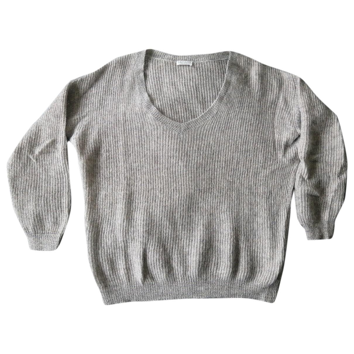 Brunello Cucinelli - Pull   pour femme en laine - violet