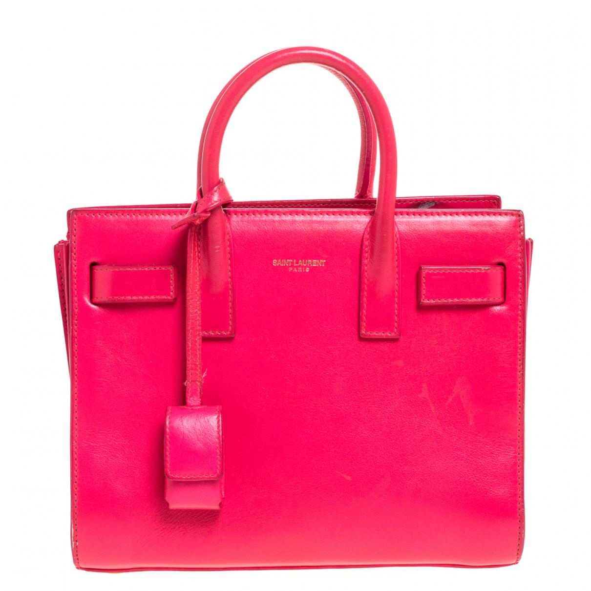 Saint Laurent - Sac a main   pour femme en cuir - rose