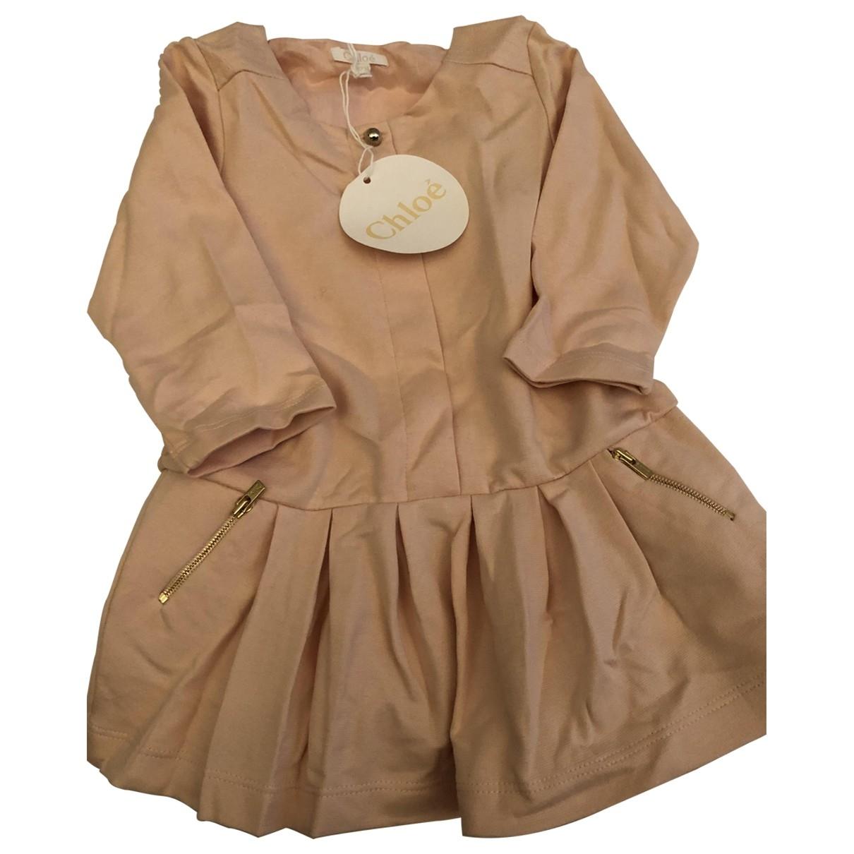 Chloe \N Kleid in  Rosa Baumwolle - Elasthan