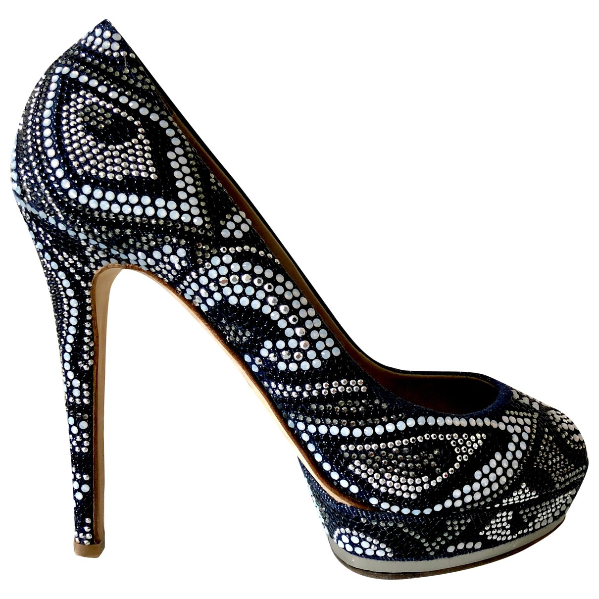 Le Silla \N Pumps in  Marine Leinen