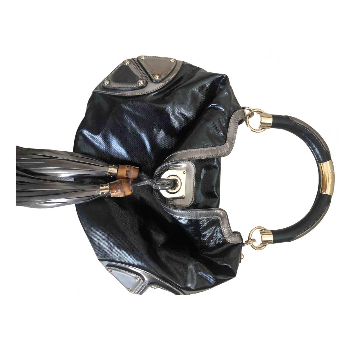 Gucci Indy Handtasche in  Schwarz Leder