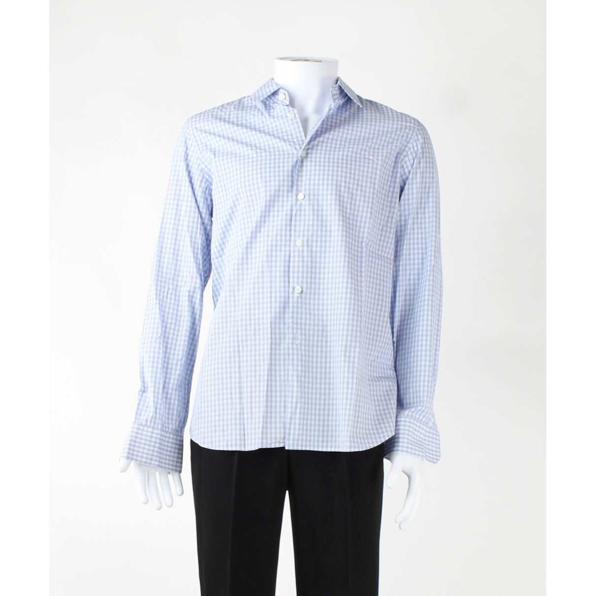 Prada \N Blue Cotton Shirts for Men 41 EU (tour de cou / collar)
