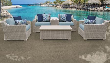 Coast Collection COAST-06d-SPA 6-Piece Patio Set 06d with 1 Cup Table   1 Storage Coffee Table   2 Club Chair   1 Left Arm Chair   1 Right Arm Chair